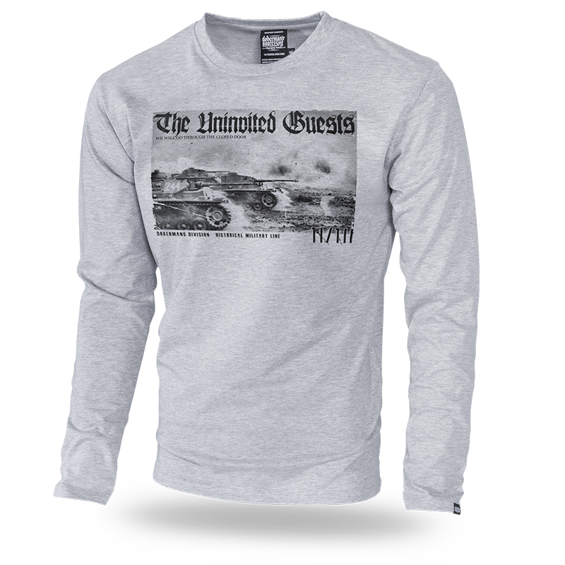 Longsleeve Panzer Division M / Szary