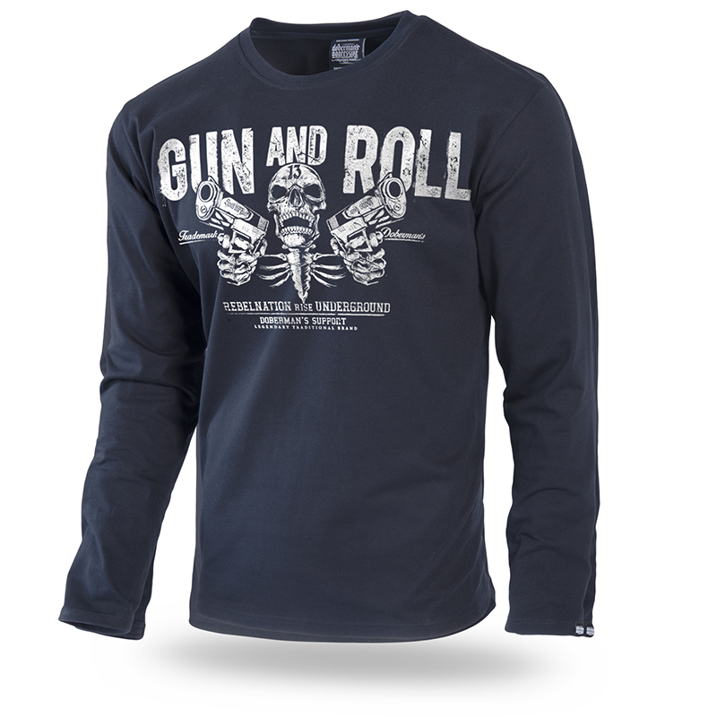 b08cba79e7c Gun and Roll Long sleeve shirt 3XL   Black-LS192A-XXXL
